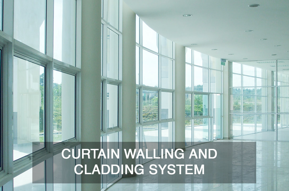 glass curtain wall and cladding system