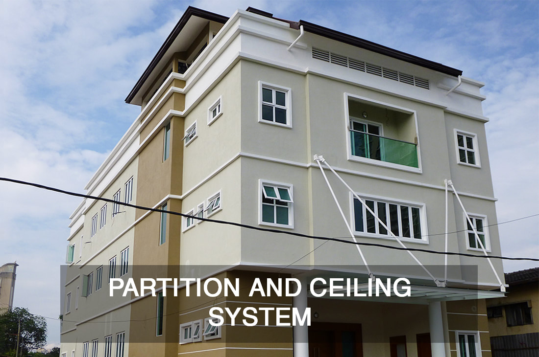 glass partition and ceiling system